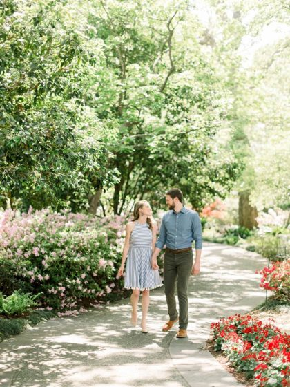 Romantic Garden Engagement Session from Courtney Hanson Photography
