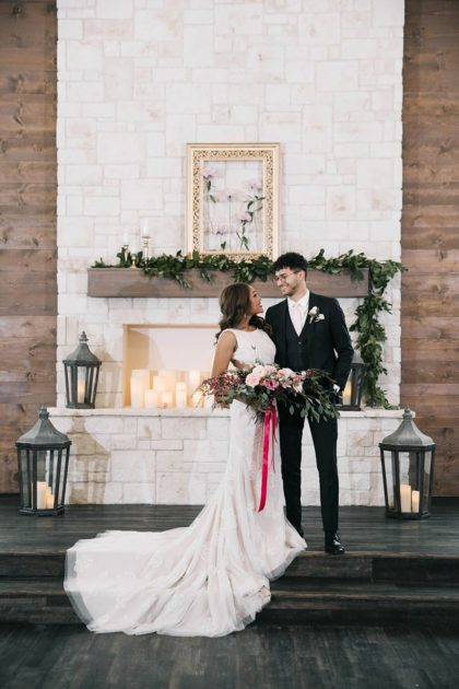 Pretty in Pink Rustic Styled Shoot at Hidden Pines Chapel