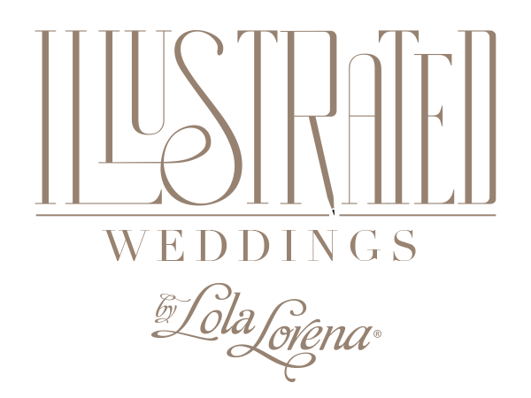 Illustrated Weddings by Lola Lorena - North Texas Wedding Invitations